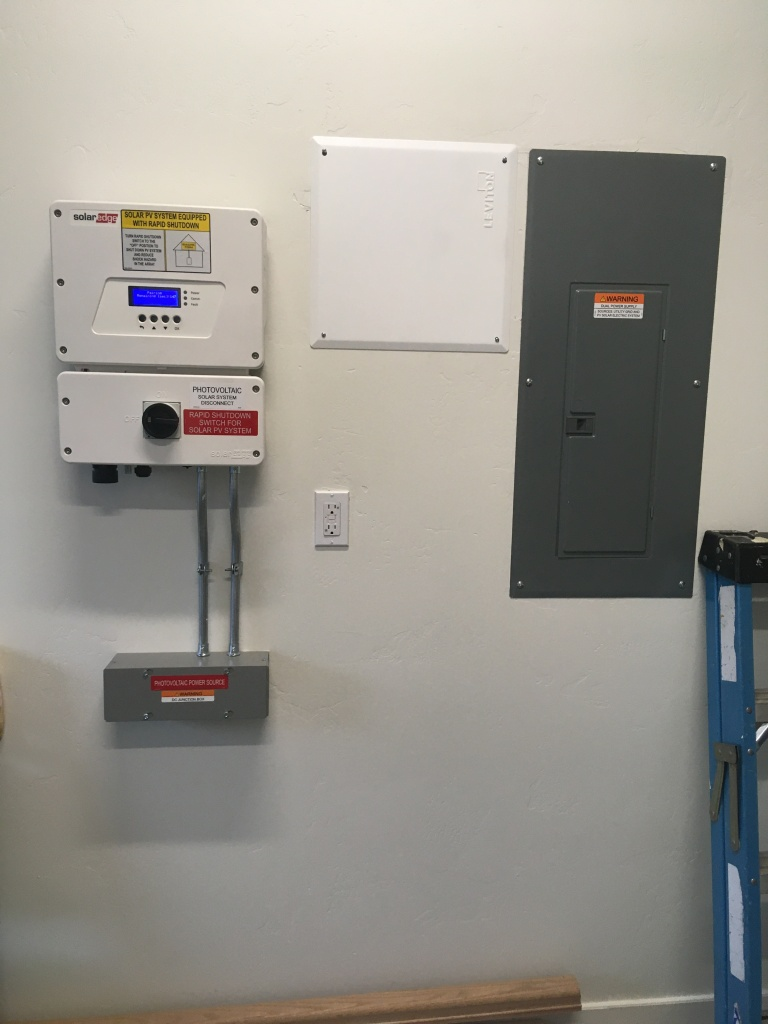 A clean install of a Solar Edge inverter & electrical service in Southwest Colorado