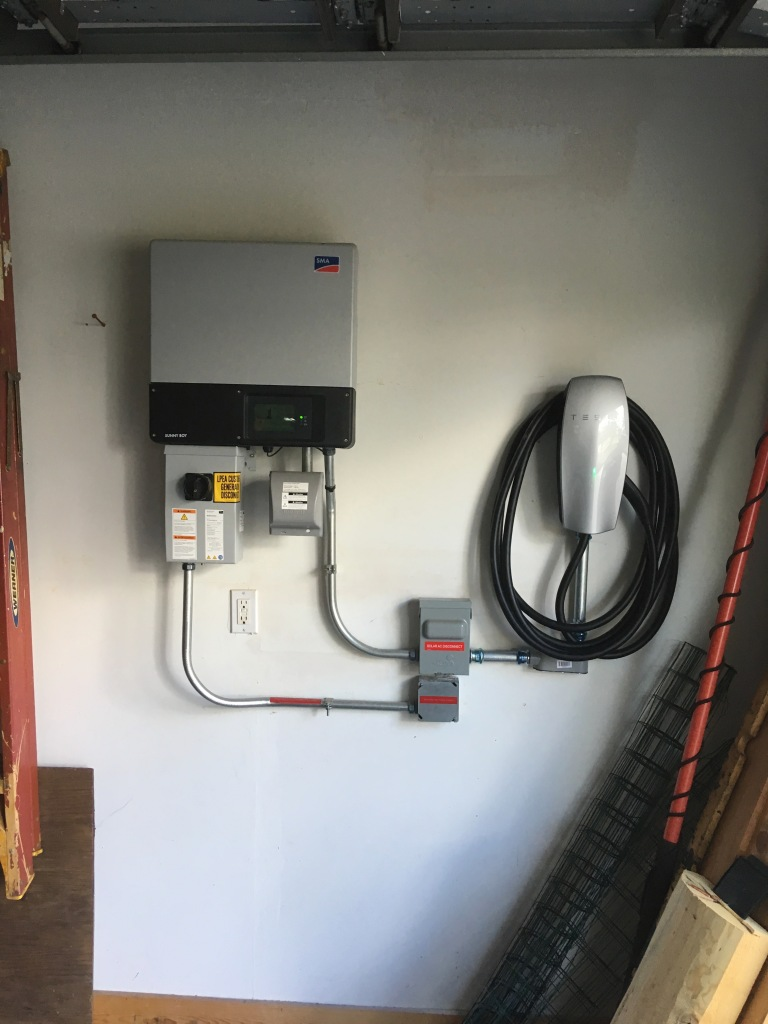Solar Installation with Tesla Car Charger