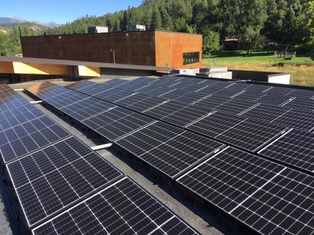 Flat Roof Solar Electric (PV) Installation Durango, CO