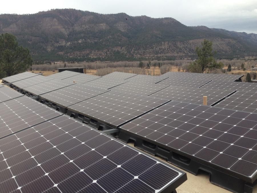 Flat Roof Solar Electric Installation Durango, CO